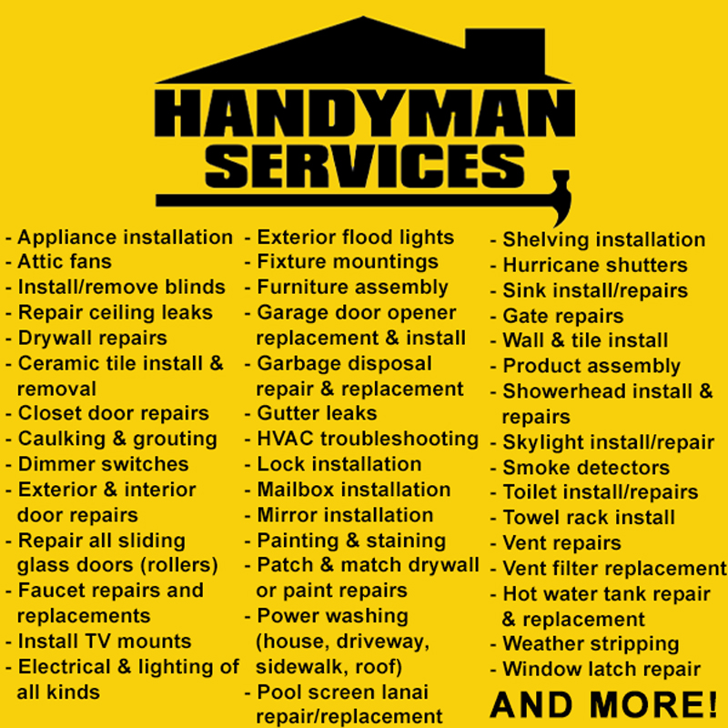Handyman Services - What To Offer